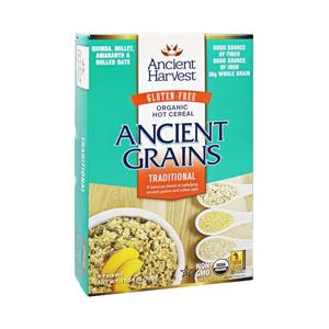 Cereal de hojuelas de granos antiguos orgánico