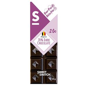 Chocolate Belga 70% sin Azucar 25 grs - Sweet Switch