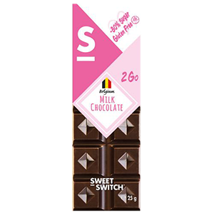 Chocolate Belga Leche sin Azucar 25 grs - Sweet Switch