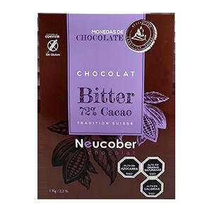 Chocolate Bitter 72% Cacao Monedas - Neucober