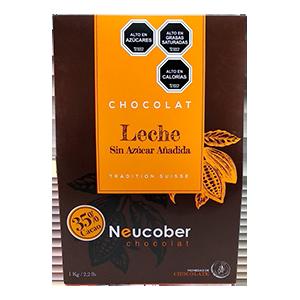Chocolate Leche 35% Cacao Sin Azucar Monedas - Neucober