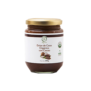 Dulce de Coco Organico con Cacao 200 grs - Be Organics