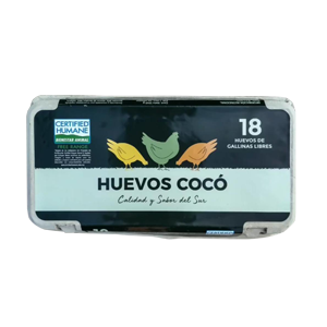 Huevos De Gallina Feliz – Coco 18unidades