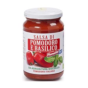 Salsa de tomate y albahaca orgánica 340g - Fiorentini