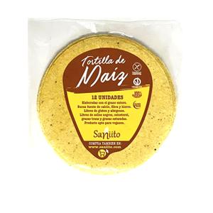 Tortillas de Maiz 14cms 12 Unidades - Sanito